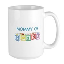 Mommy of Twins Blocks Mugs