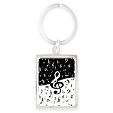 Stylish random musical notes Keychains