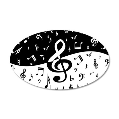 Stylish random musical notes Wall Decal