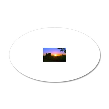 sunrise 9-15-10 20x12 Oval Wall Decal
