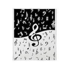 Stylish random musical notes Throw Blanket