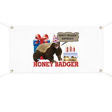 Honey Badger Happy Freakin' Birthday Banner