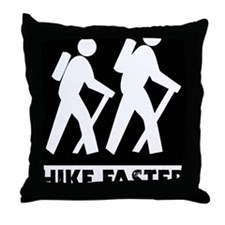 Hike-banjos-blackv2 Throw Pillow