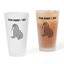 Custom Grey Walrus Drinking Glass