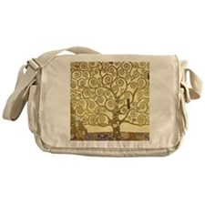 Tree of Life by Gustav Klimt Messenger Bag