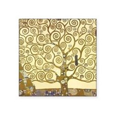"Tree of Life by Gustav Klim Square Sticker 3"" x 3"""