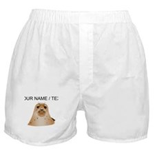 Custom Brown Sea Lion Boxer Shorts