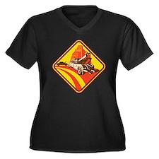 wrecker tow  Women's Plus Size Dark V-Neck T-Shirt