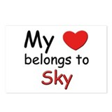 My heart belongs to sky Postcards (Package of 8)
