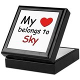 My heart belongs to sky Keepsake Box