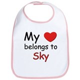 My heart belongs to sky Bib