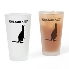Custom Kangaroo Silhouette Drinking Glass