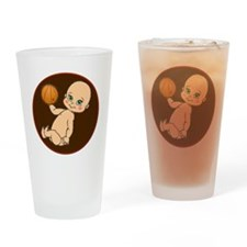 baby with basketball Drinking Glass