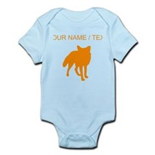 Custom Orange Fox Silhouette Body Suit