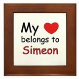 My heart belongs to simeon Framed Tile