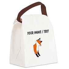 Custom Red Fox Canvas Lunch Bag