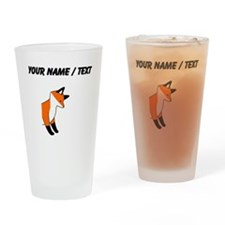 Custom Red Fox Drinking Glass