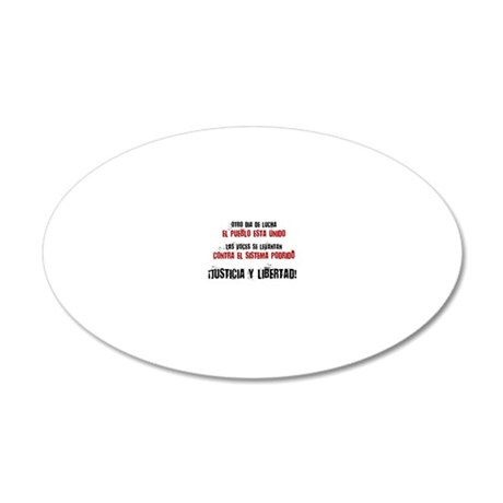 JUSTICIA Y LIBERTAD_red 20x12 Oval Wall Decal