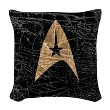 star-trek_distressed-symbol-b Woven Throw Pillow