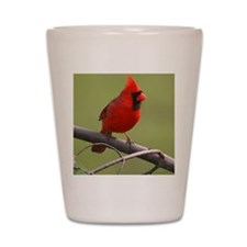 Northern Cardinal Shot Glass
