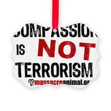 compassion-terrorisme-3-en-white Ornament