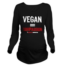 compassion-vegan-3 Long Sleeve Maternity T-Shirt