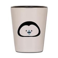 Cute little Penguin face Shot Glass