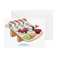 Kawaii-Cali-Sushi-Cafe-Trans Greeting Card