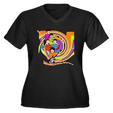 Brets copy Women's Plus Size Dark V-Neck T-Shirt