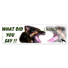 WHAT DID YOU SAY! LMAO Sticker(Bumper)