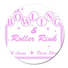 2-TooleysRollerRink Round Car Magnet