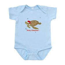 Personalized Christmas Sea Turtle Infant Bodysuit