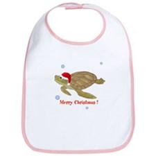 Personalized Christmas Sea Turtle Bib