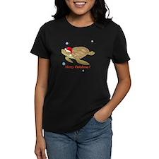 Personalized Christmas Sea Turtle Tee