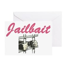 JAILBAIT Greeting Card