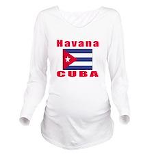 Havana Cuba Designs Long Sleeve Maternity T-Shirt