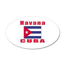 Havana Cuba Designs 20x12 Oval Wall Decal