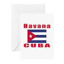 Havana Cuba Designs Greeting Cards (Pk of 20)
