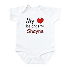 My heart belongs to shayne Infant Bodysuit