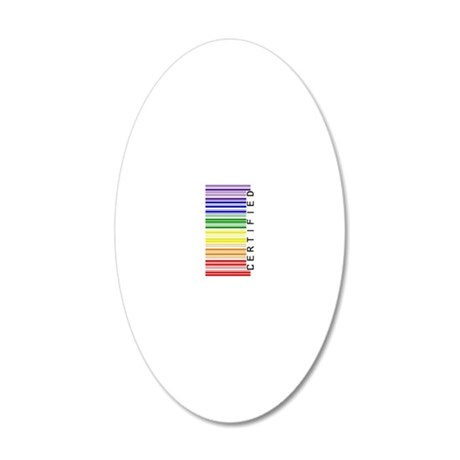 Certified Rainbow Barcode-si 20x12 Oval Wall Decal