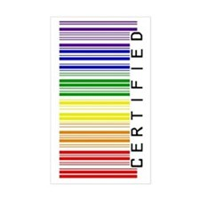 Certified Rainbow Barcode-side Decal