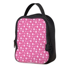 Pink SC Palmetto Moon Flag Neoprene Lunch Bag