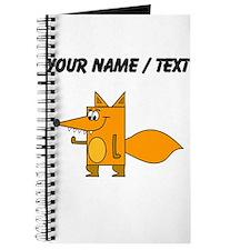 Custom Cartoon Red Fox Journal