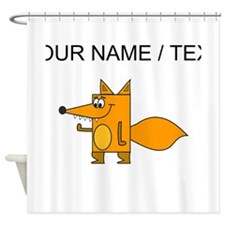 Custom Cartoon Red Fox Shower Curtain