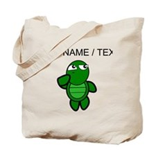 Custom Cartoon Turtle Thinking Tote Bag