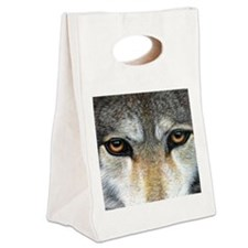 Wolf Eyes  1000 Canvas Lunch Tote