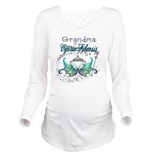 Grandma to a Cystic  Long Sleeve Maternity T-Shirt