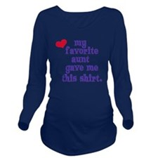 favorite-aunt Long Sleeve Maternity T-Shirt