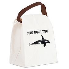 Custom Orca Whale Canvas Lunch Bag