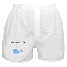 Custom Blue Whale Boxer Shorts
